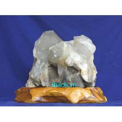 Khối đá thạch anh trắng phong thủy TR19