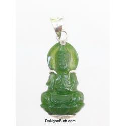 Phật Quan Âm đá ngọc bích NBP25