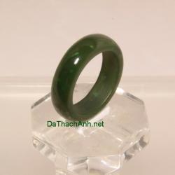 Nhẫn ngọc bích nephrite size17 NBN27
