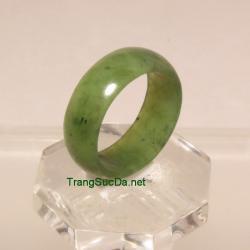 Nhẫn ngọc bích nephrite size19 NBN34