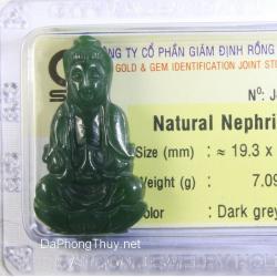 Phật Quan Âm đá ngọc bích NBP7.09