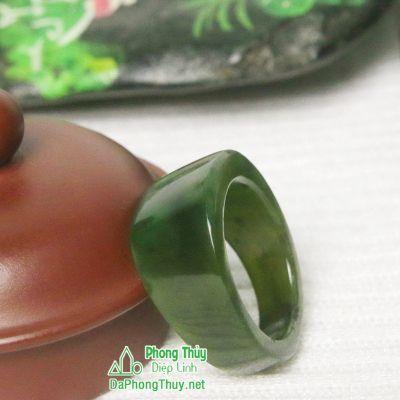 Nhẫn đá ngọc bích nephrite jade 5-18.2