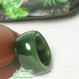Nhẫn đá ngọc bích nephrite jade 10-18.1