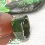 Nhẫn đá ngọc bích nephrite jade 12-18.5