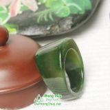 Nhẫn đá ngọc bích nephrite jade 14-18.2