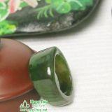 Nhẫn đá ngọc bích nephrite jade 16-18.5
