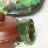Nhẫn đá ngọc bích nephrite jade 17-18.5