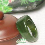 Nhẫn đá ngọc bích nephrite jade 2-18.2