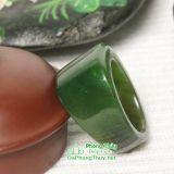 Nhẫn đá ngọc bích nephrite jade 21-18.5