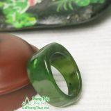 Nhẫn đá ngọc bích nephrite jade 8-18.6
