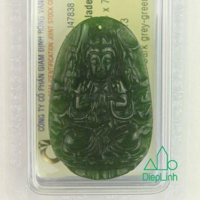 Phật bản mệnh thiên thủ thiên nhãn đá ngọc bích J47838