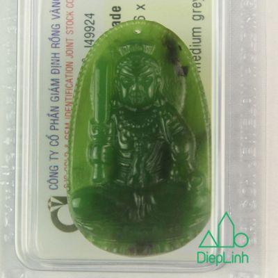 Phật bản mệnh văn thù bồ tát đá ngọc bích J49924