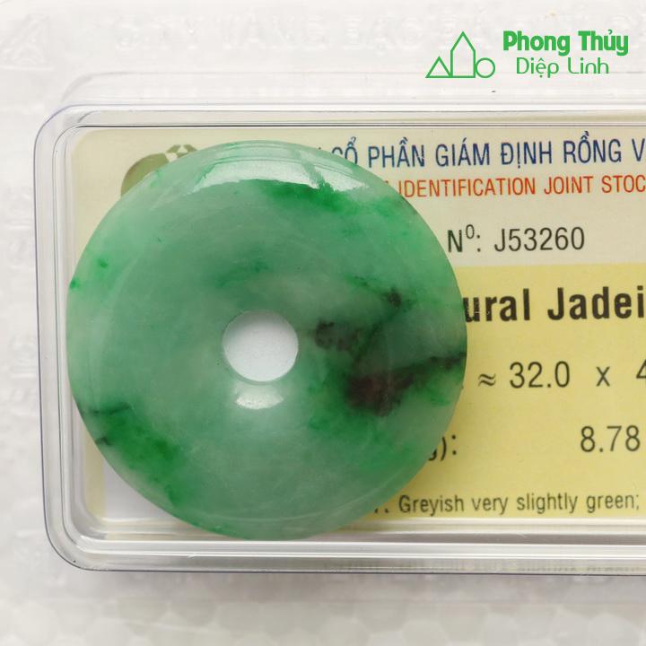 Đồng điếu ngọc bội cẩm thạch J53260