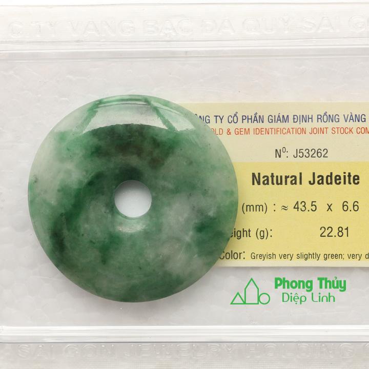 Đồng điếu ngọc bội cẩm thạch J53262