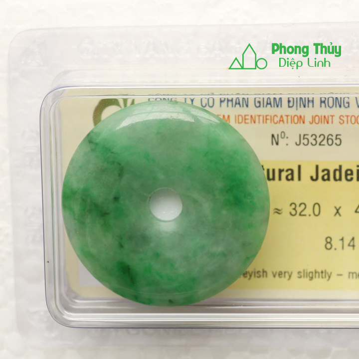 Đồng điếu ngọc bội cẩm thạch J53265